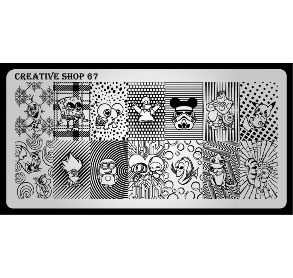 Пластина для стемпинга Creative Shop 67
