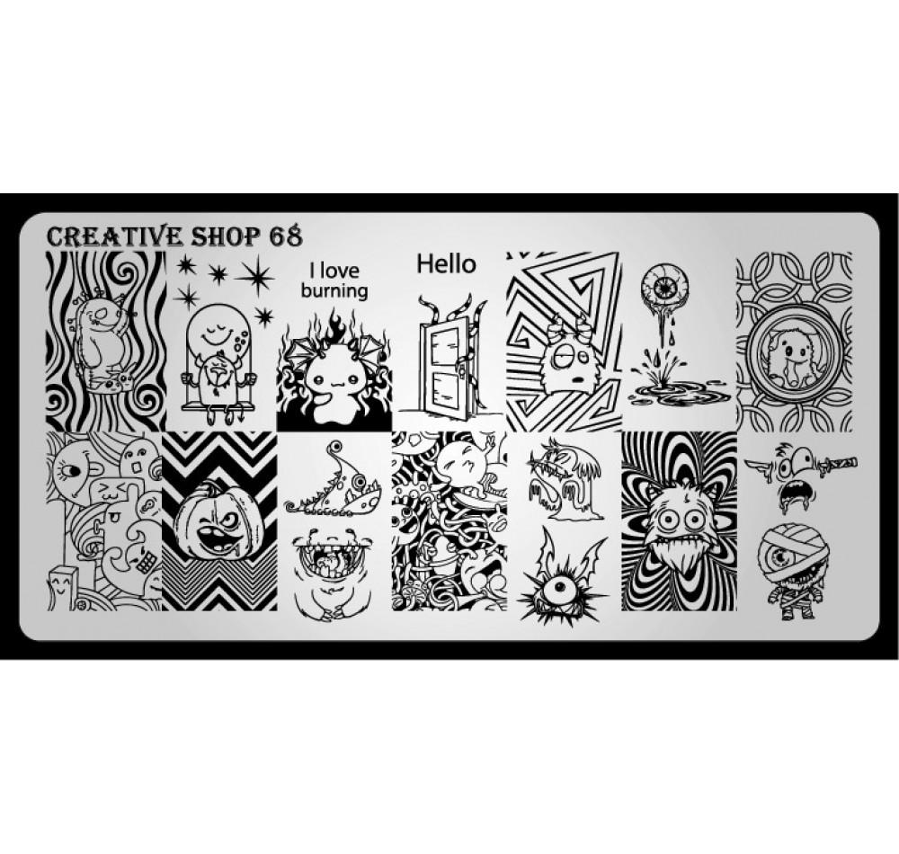 Пластина для стемпинга Creative Shop 68