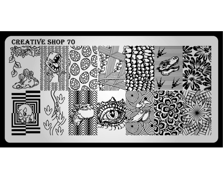 Пластина для стемпинга Creative Shop 70