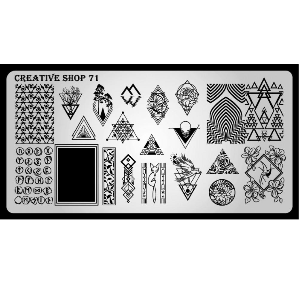 Пластина для стемпинга Creative Shop 71