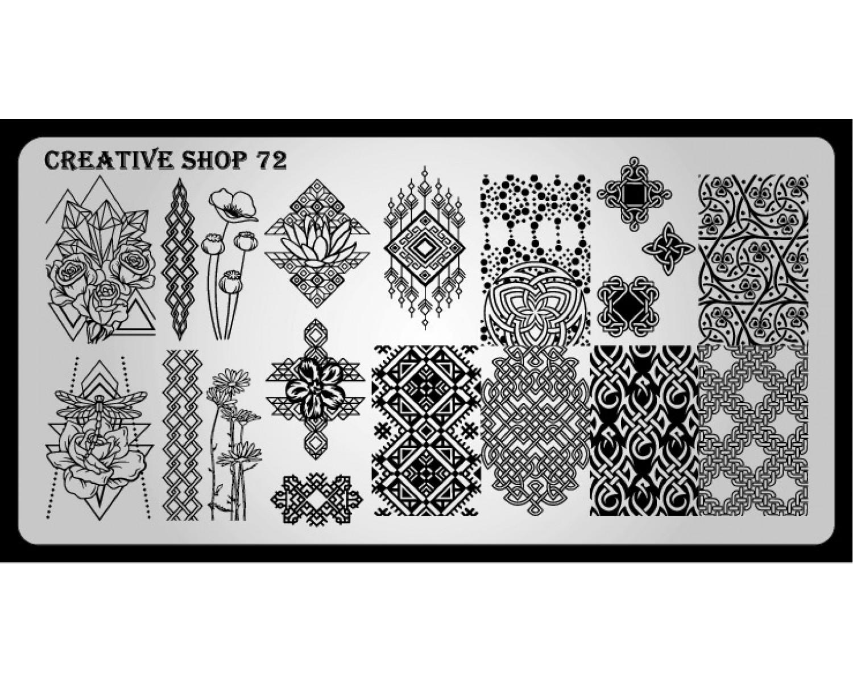Пластина для стемпинга Creative Shop 72