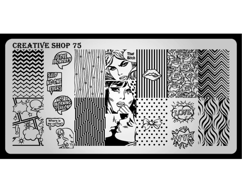 Пластина для стемпинга Creative Shop 75