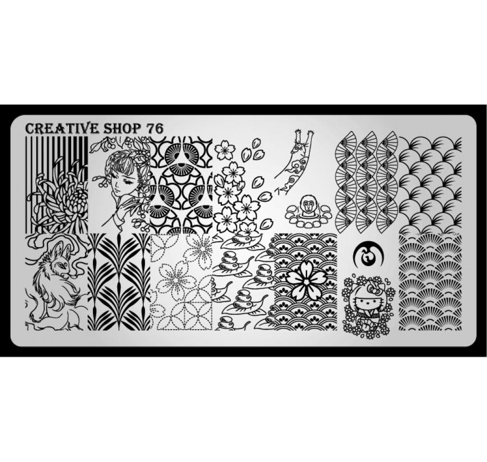 Пластина для стемпинга Creative Shop 76