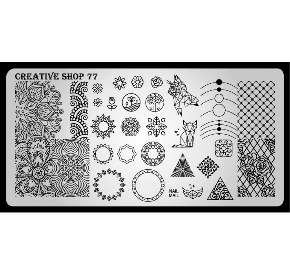 Пластина для стемпинга Creative Shop 77