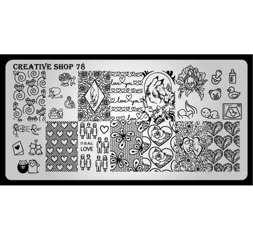 Пластина для стемпинга Creative Shop 78