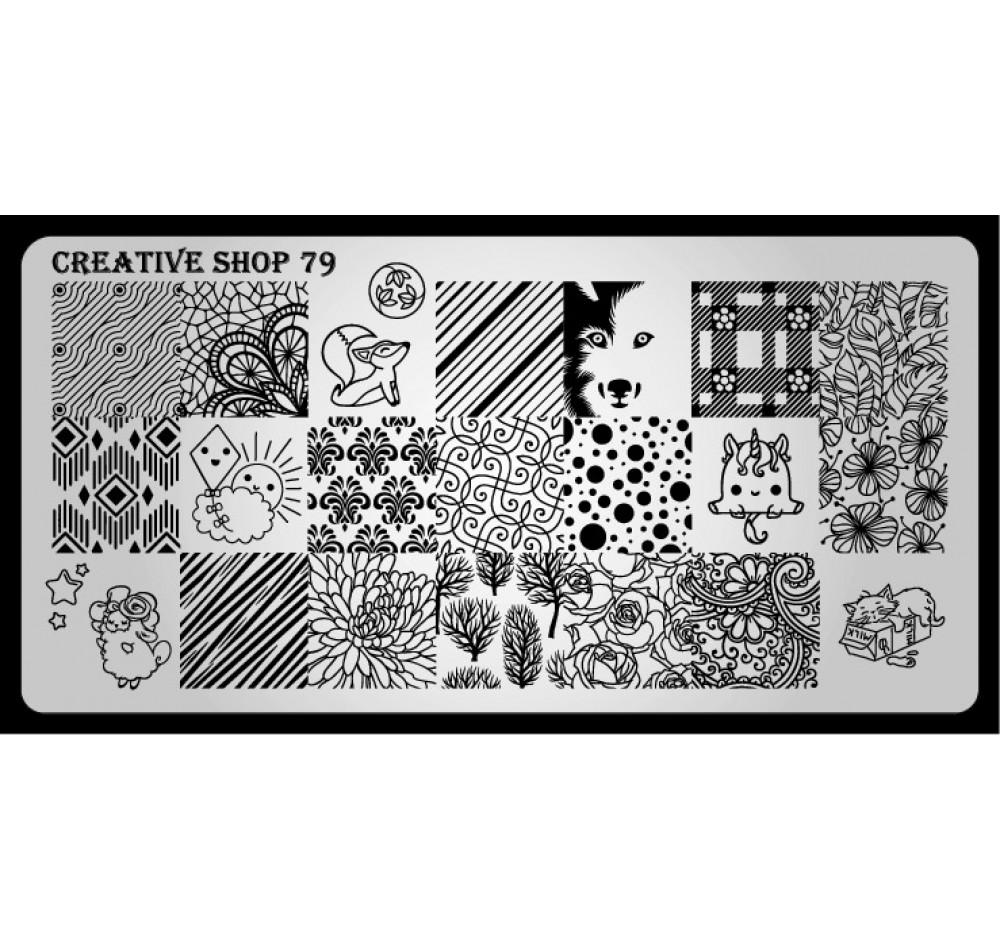 Пластина для стемпинга Creative Shop 79