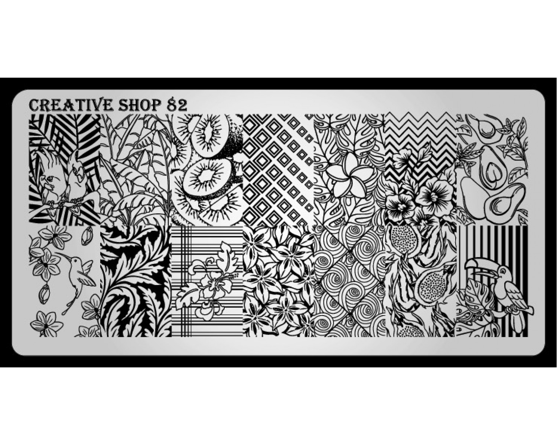 Пластина для стемпинга Creative Shop 82