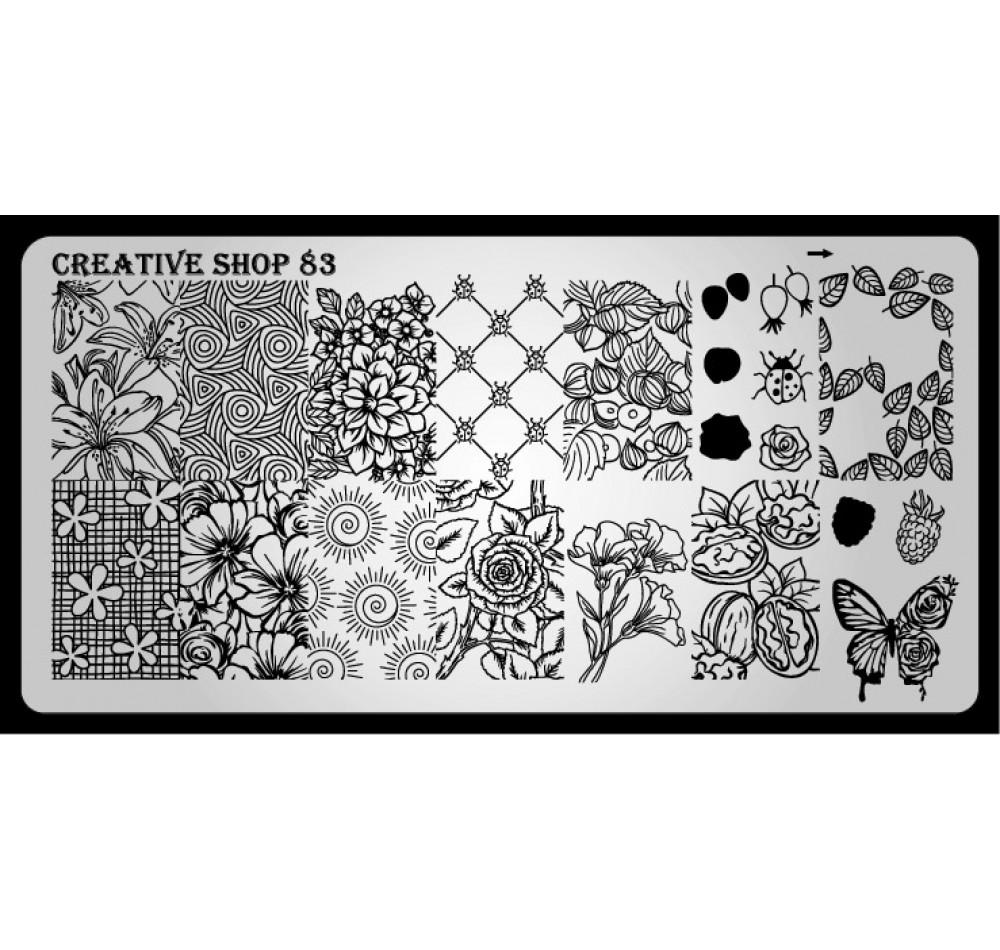 Пластина для стемпинга Creative Shop 83