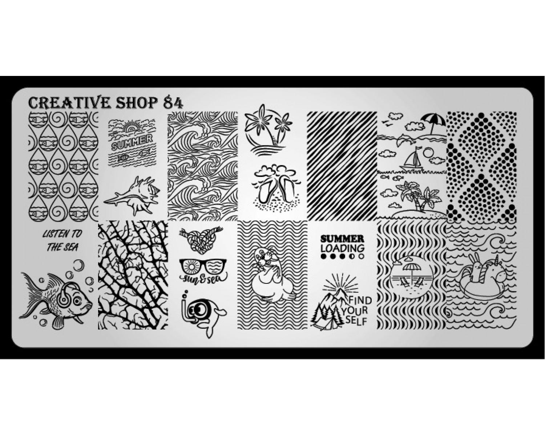 Пластина для стемпинга Creative Shop 84