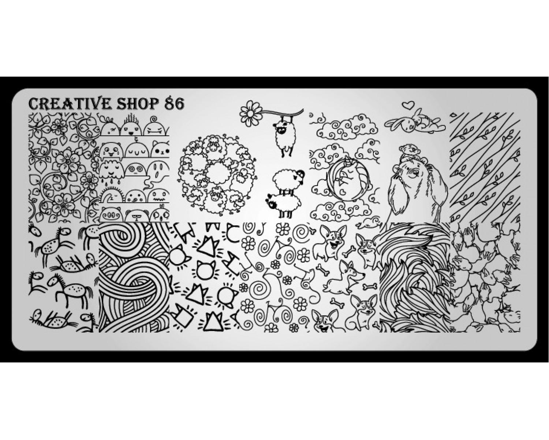 Пластина для стемпинга Creative Shop 86