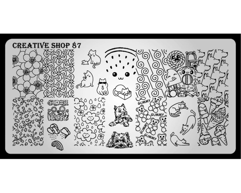 Пластина для стемпинга Creative Shop 87