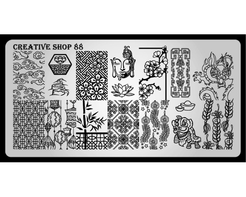 Пластина для стемпинга Creative Shop 88