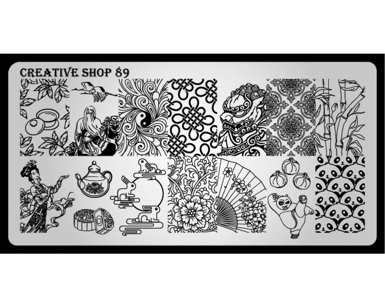 Пластина для стемпинга Creative Shop 89