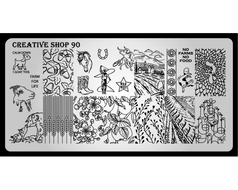 Пластина для стемпинга Creative Shop 90