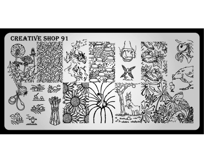 Пластина для стемпинга Creative Shop 91