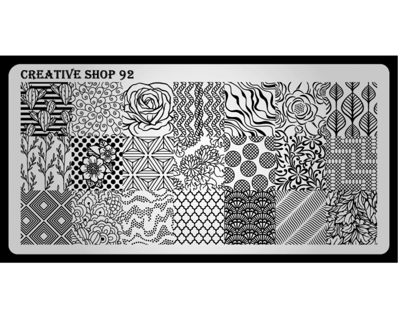 Пластина для стемпинга Creative Shop 92