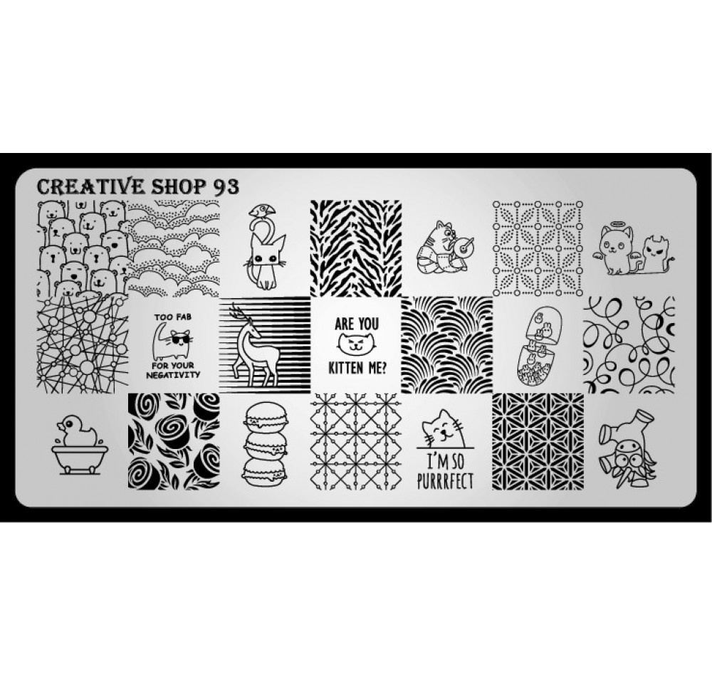 Пластина для стемпинга Creative Shop 93