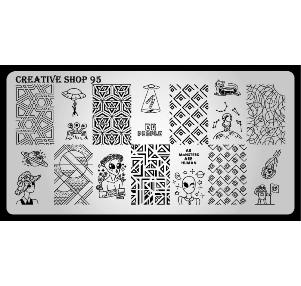 Пластина для стемпинга Creative Shop 95