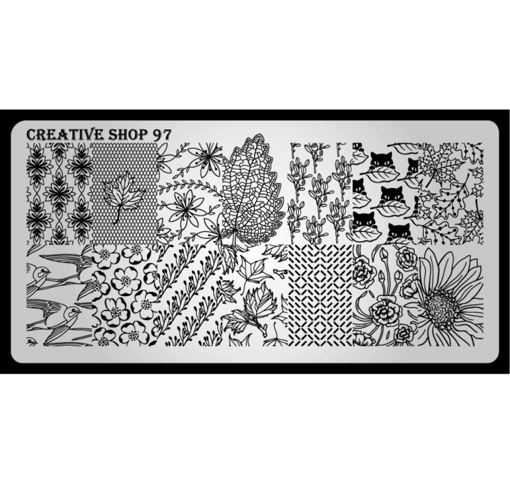 Пластина для стемпинга Creative Shop 97