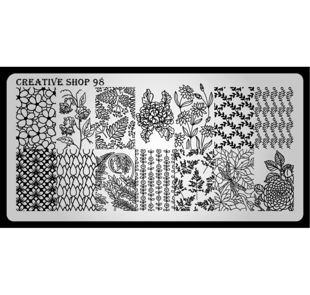Пластина для стемпинга Creative Shop 98