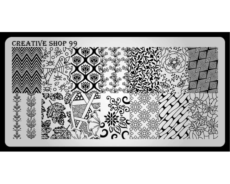 Пластина для стемпинга Creative Shop 99