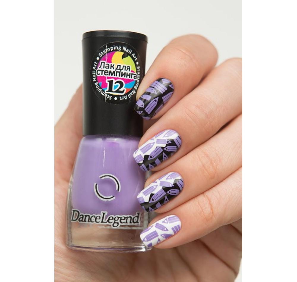 Лак для стемпинга DL - фиолетовый
