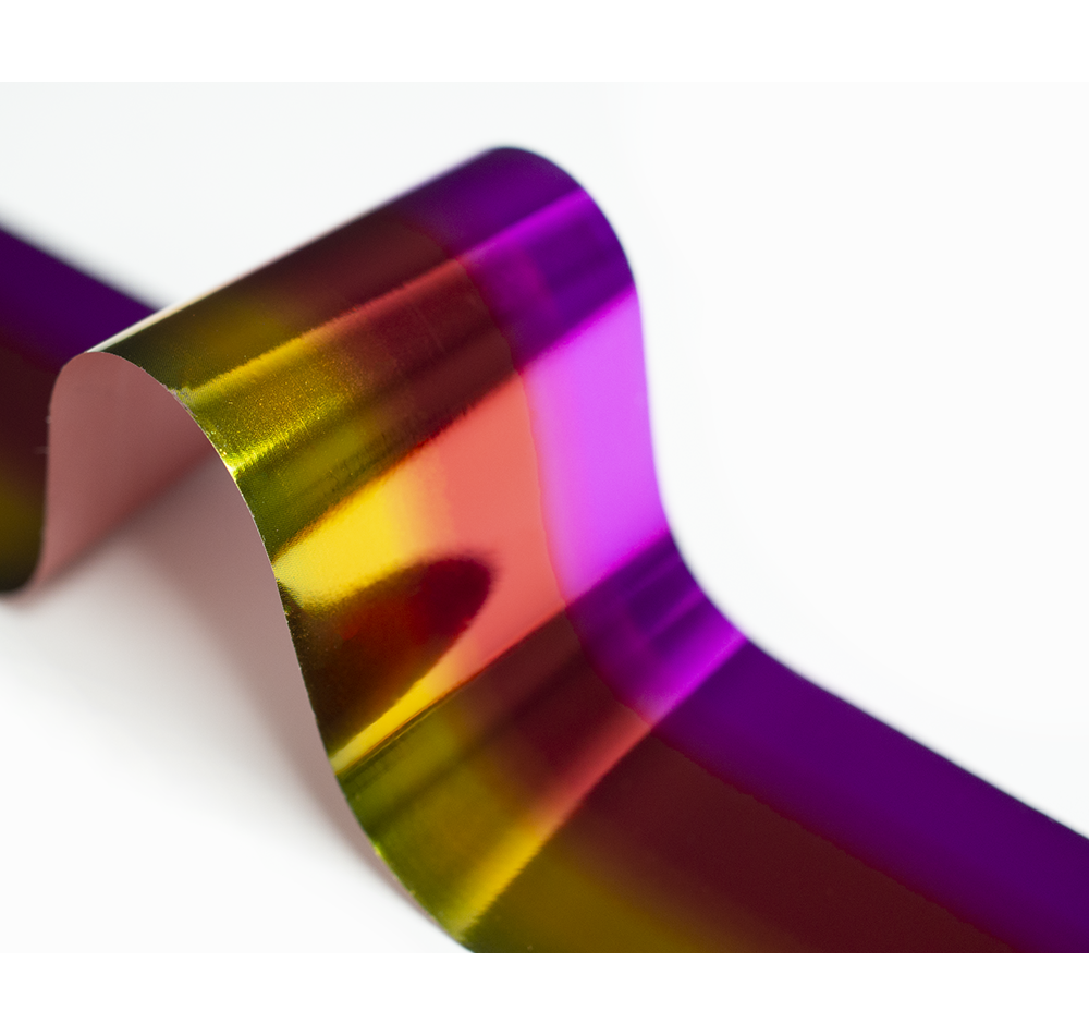 Фольга Lesly - градиент lilac-red-yellow