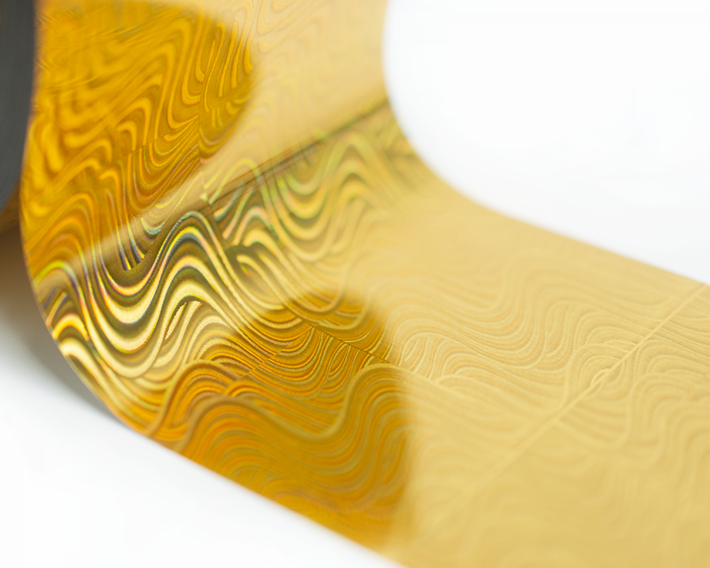Фольга Lesly - золотая волна