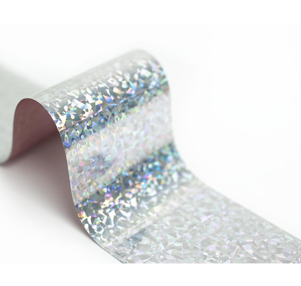 Фольга Lesly - серебристый кристалл