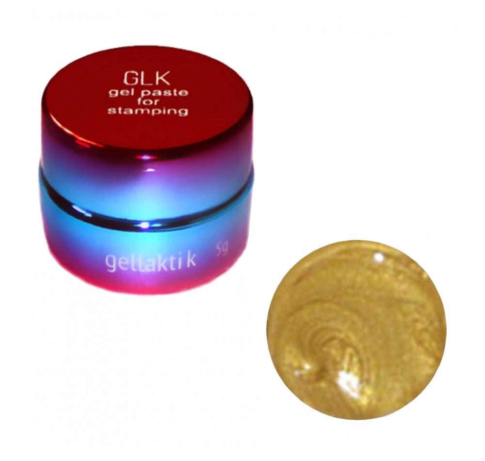 Гель-паста для стемпинга Gellaktik -  золото