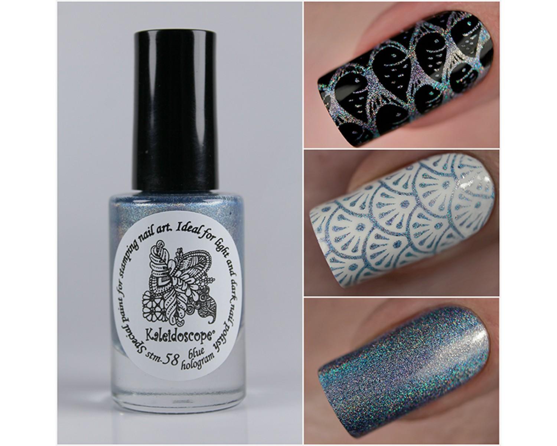Лак для стемпинга - мини Kaleidoscope - blue hologram