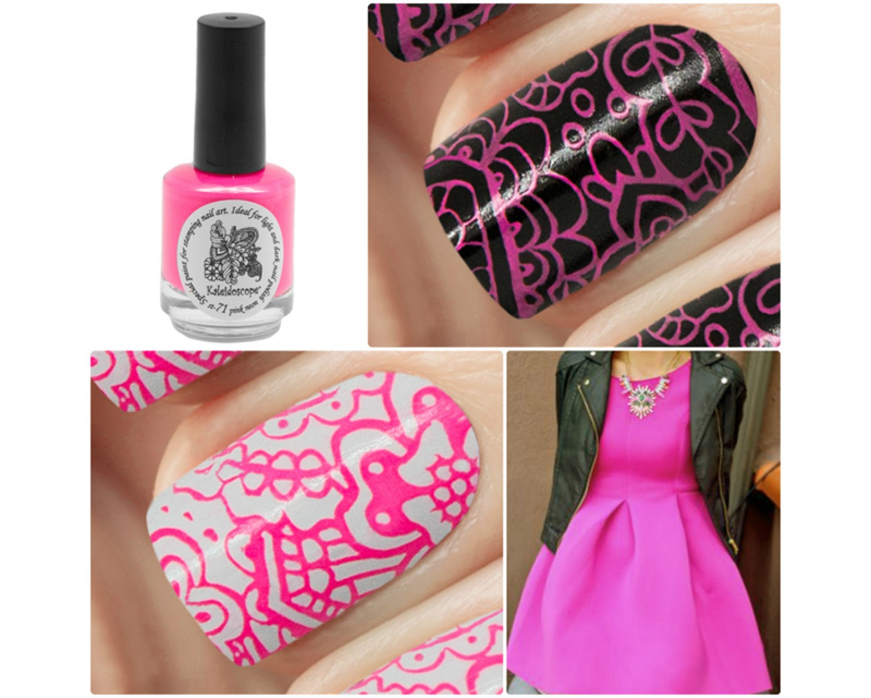 Лак для стемпинга Kaleidoscope - pink neon  Fluo