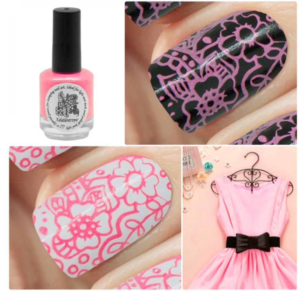 Лак для стемпинга Kaleidoscope - light pink Fluo