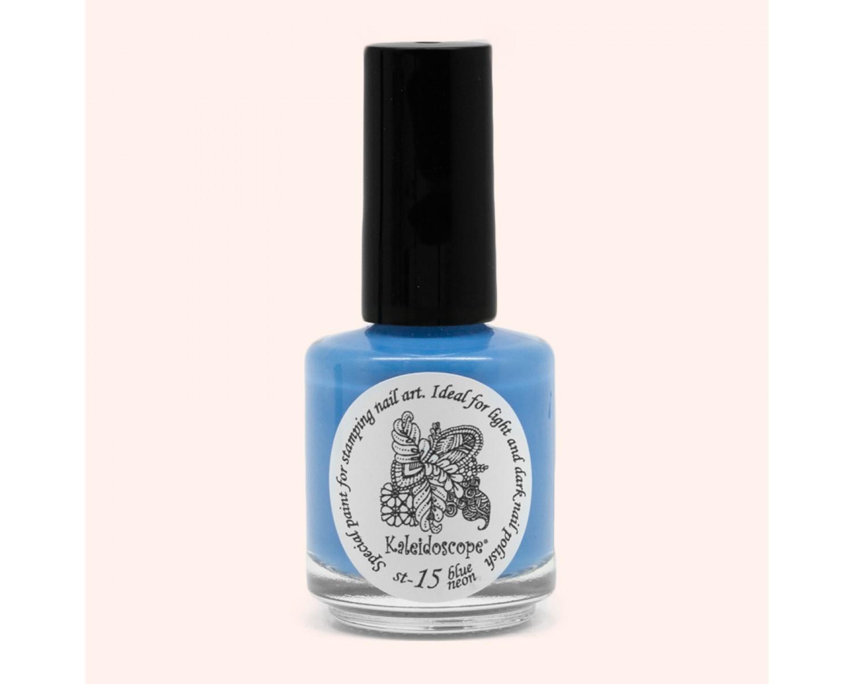 Лак для стемпинга Kaleidoscope - blue neon  Fluo