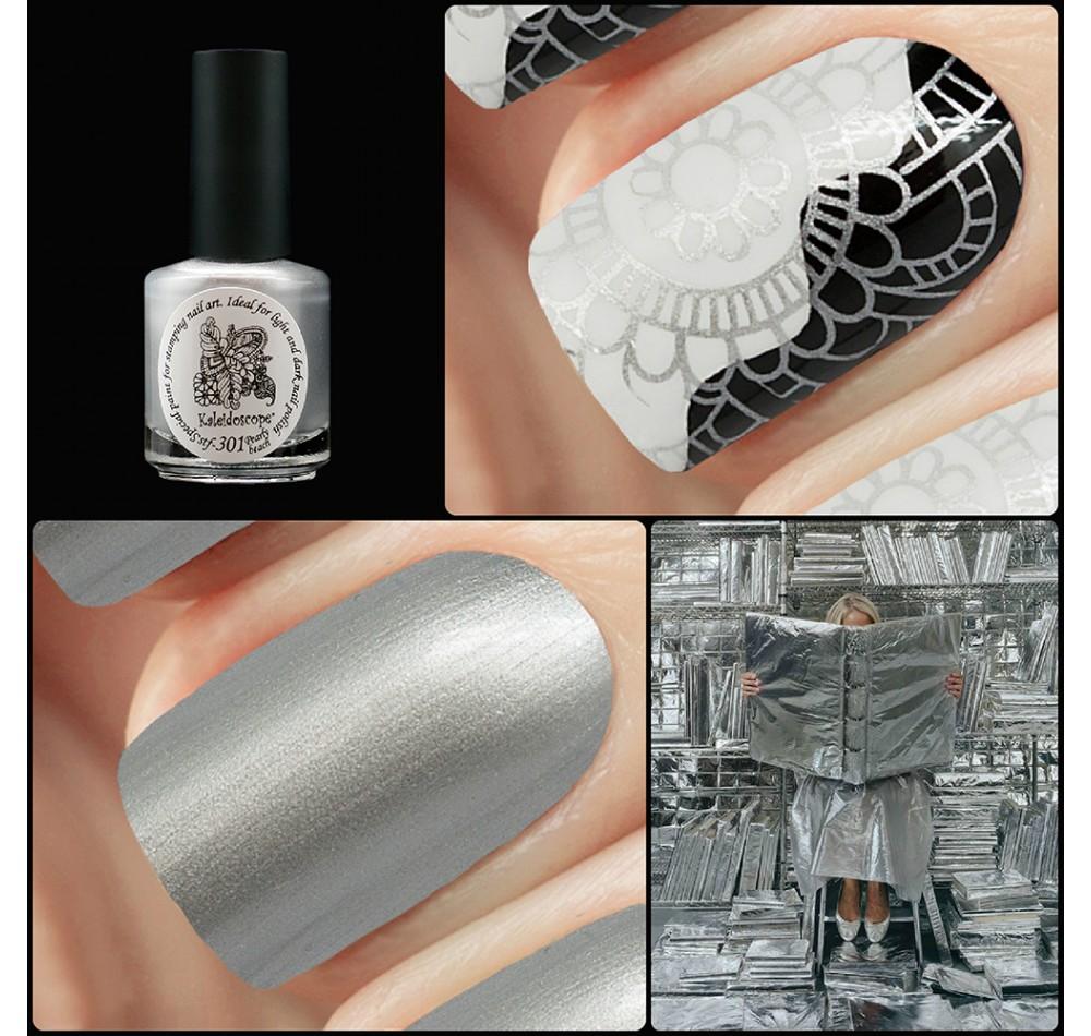 Лак для стемпинга зеркальная Kaleidoscope - серебро
