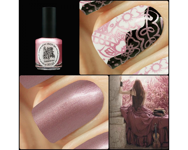 Лак для стемпинга зеркальная Kaleidoscope - розовый