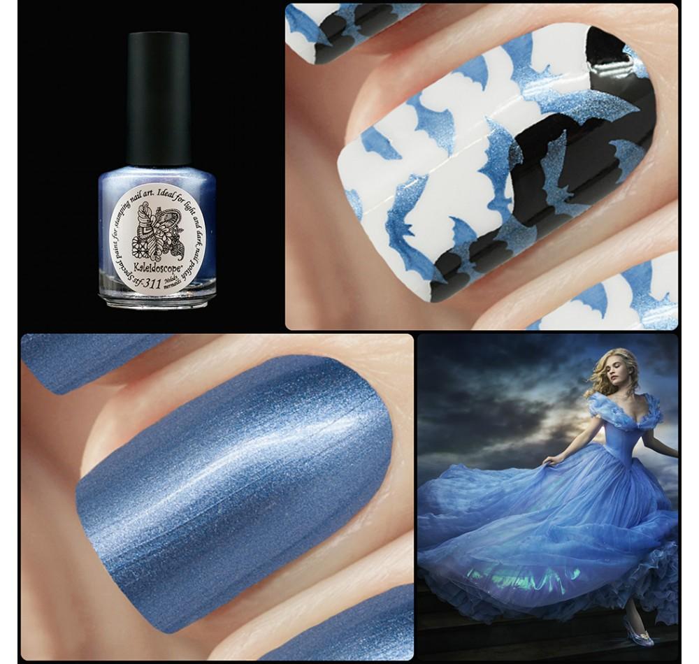 Лак для стемпинга зеркальная Kaleidoscope - темно-голубой