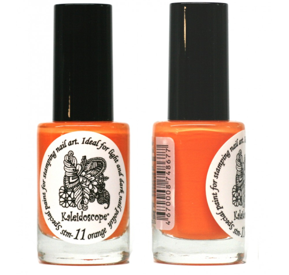 Лак для стемпинга - мини Kaleidoscope - orange Fluo