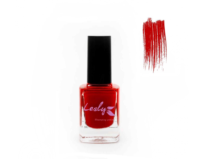 Лак для стемпинга Lesly - Flame Scarlet #5