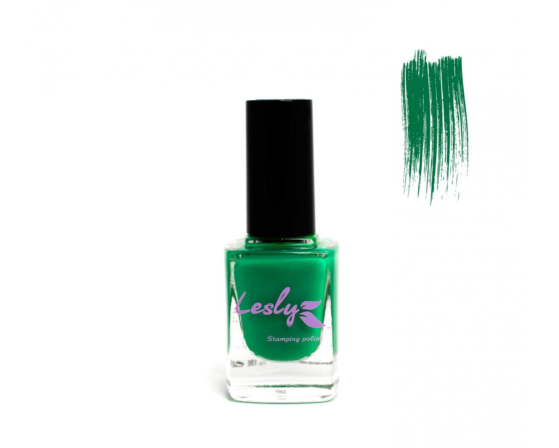 Лак для стемпинга Lesly - Forest Green #17