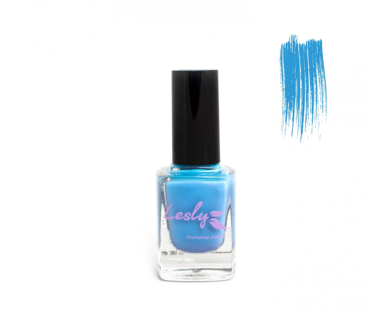 Лак для стемпинга Lesly - Sky Blue #18
