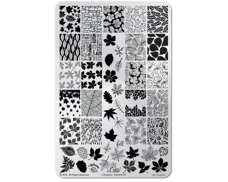Пластина для стемпинга Lina - 4 Seasons - Autumn 03