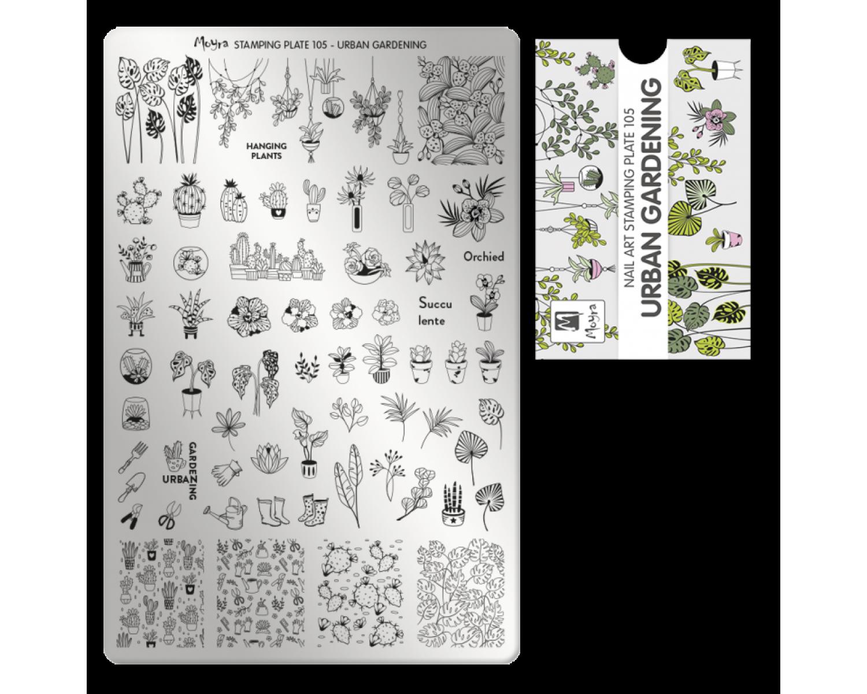 Пластина для стемпинга Moyra - Urban Gardening