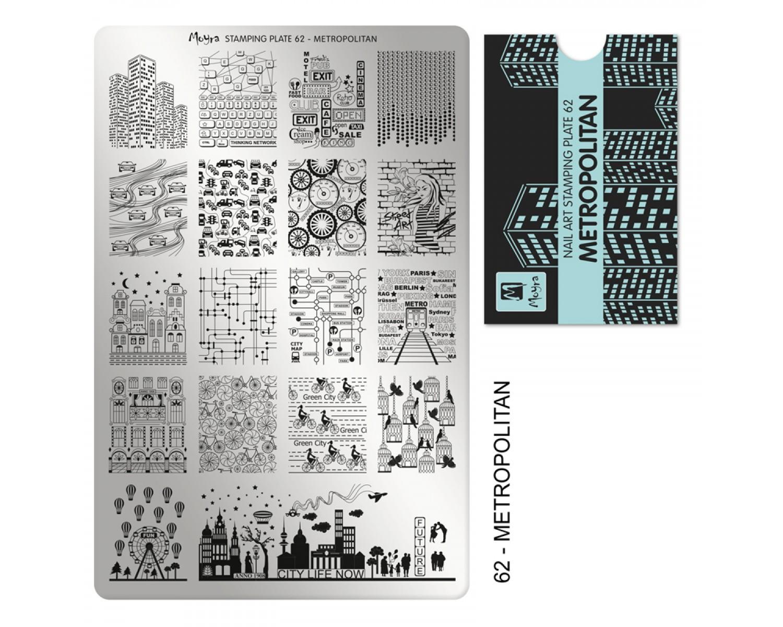 Пластина для стемпинга Moyra - Metropolitan