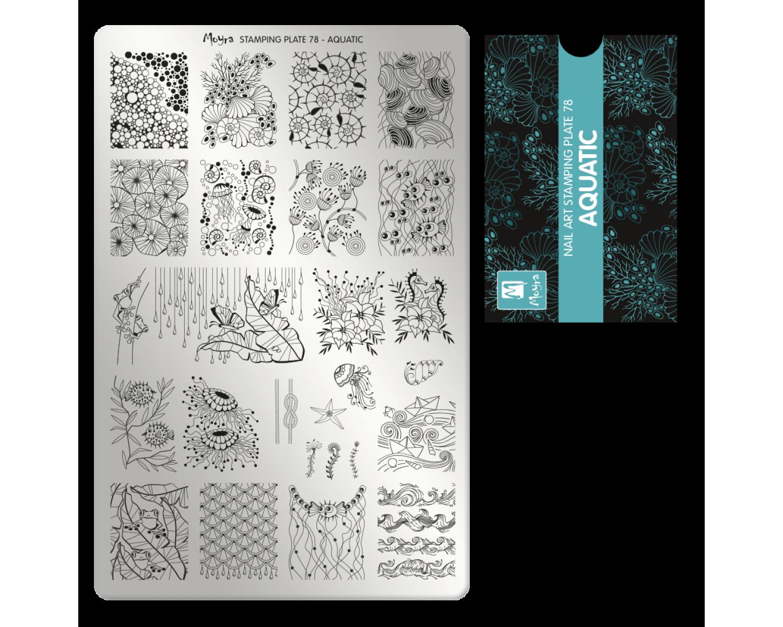 Пластина для стемпинга Moyra - Aquatic