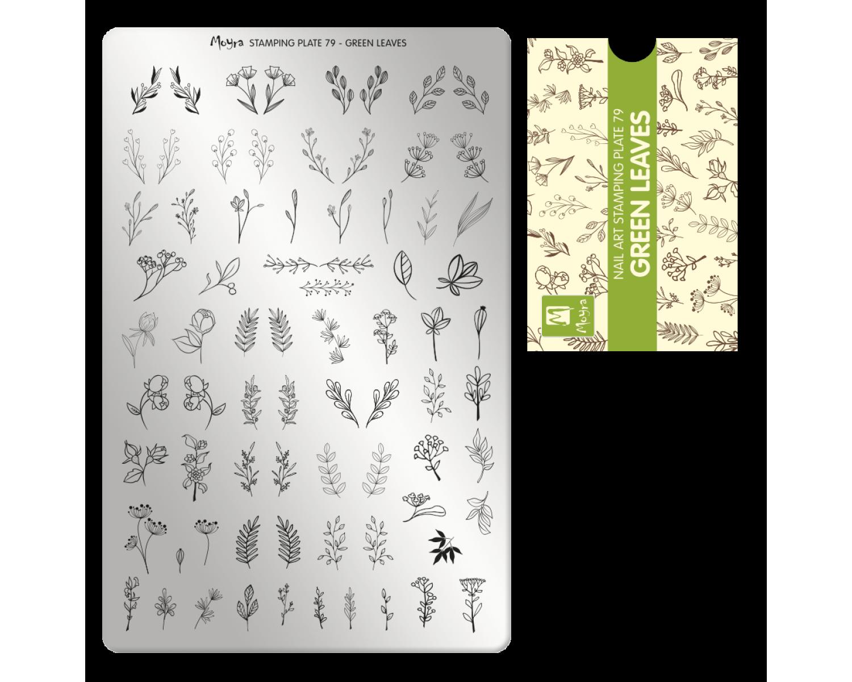 Пластина для стемпинга Moyra - Green Leaves