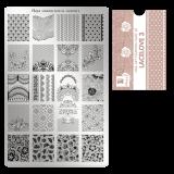Пластина для стемпинга Moyra - Lacelove 3