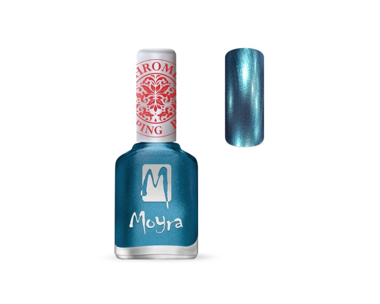 Лак для стемпинга Moyra - Chrome Blue