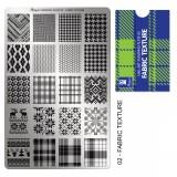 Пластина для стемпинга Moyra - Fabric texture