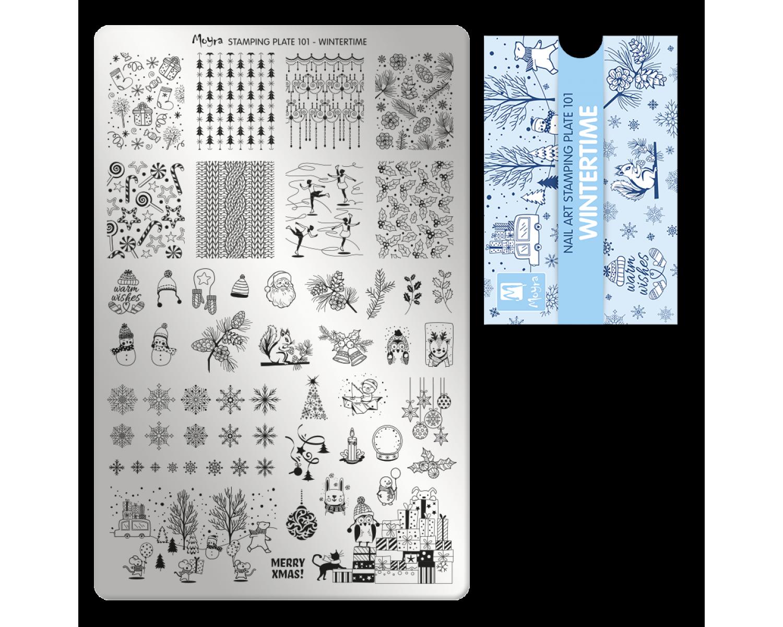 Пластина для стемпинга Moyra - Wintertime